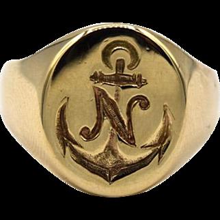 Vintage Naval Signet Ring