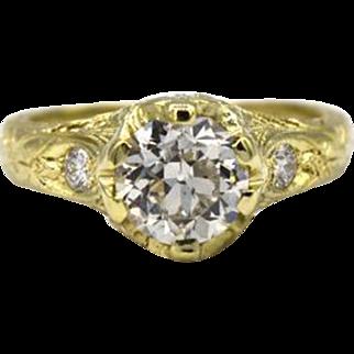 Vintage-Style 1.45 Ct OEB Diamond Ring