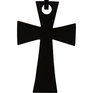 GUTTA PERCHA Large Link Cross Pendant Necklace