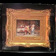 """Promises"" By Karl Kaufmann (as Bertini) Oil Painting on Porcelain"
