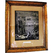 """Strolling Players"" Engraving - Professionally Framed"