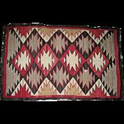 "Late 19C Navajo Rug - Squash Blossom Design - 61""L x 39"" W"