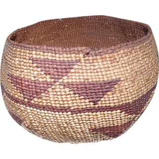 "Lower Klamath River/Northern California Basket - 3 1/2"" Tall"