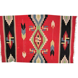 "Navajo Germantown Blanket - 67"" Long"