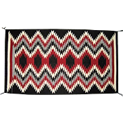 Navajo Rug with Eye Dazzler Design -  Certificate of Genuineness by Dorothea Lee Chinle, AZ