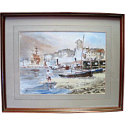 Coastal Water Color on Paper - Artist Signed Sales