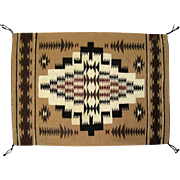 "Fine Navajo Rug - Great Design - 30"" L x 21"" W"
