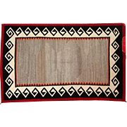 "Ganado Navajo Rug - Tight Weave - 52"" L x 32 1/2"" W"