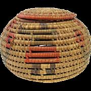 Hopi Coil Basket with Lid