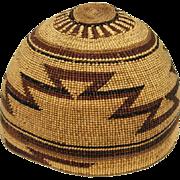 "Hupa Indian Hat - 6"" Tall"