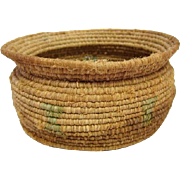 "Native American - Indian Basket - 2 3/4"" Tall"