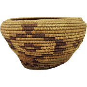 """Indian Coiled Basket - 3 3/4"""" Tall"""