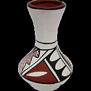 "Indian Fluted Pottery Vase - Signed E. Tafoya - 4 7/8"" Tall"