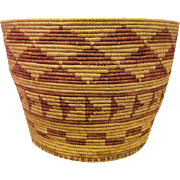 "Large Indian Coiled Basket 9 3/4"" Tall"