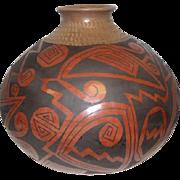Large Mata Ortiz Pottery Vase - Signed Gloria Hdez