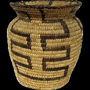 "Large Pima Olla Basket - 7"" Tall"