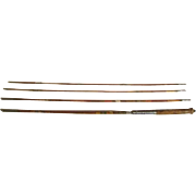 Lot #202 - Japan 3PC Bamboo Fly Rod w/Extra Tip/Flies/Wooden Bobbers/Line - 8ft