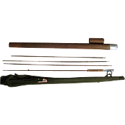 Lot #214 - Antique 3PC Tonkin Cane Bamboo Fly Rod w/Extra Tip & Holder