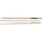 "Lot #235 -Antique 3PC Bamboo Fly Rod w/Extra Tip - 104"" Long"
