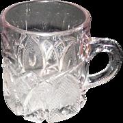 """Lot #741 - Nailhead/Diamond/Fan Pattern - Cup w/Handle - 3 1/16"""" High"""
