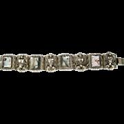 "Lot #902 Abalone Taxco 8 Panel Sterling Bracelet - 6 7/8"" Long"