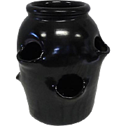 McCoy Black Planter Pot w/6 Sprout Openings