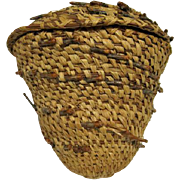 Native American Cone Basket with Lid