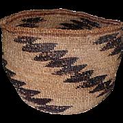 "Native Klamath California Basket - 5"" Tall"