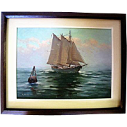 Nautical Oil on Board - Signed E. Stry