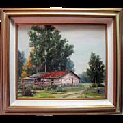 "Oil Painting ""Adobe"" by B. M. Sozin"
