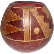"""Old Pueblo Indian Pottery Vase - 5 1/4"""" Tall"""