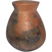 "OLD! Native American Tohono O'Odham Brown Pottery Pot w/Black Smudging - 6 1/2"" Tall"