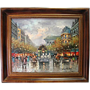 Original Oil on Canvas By Antoine Blanchard