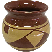 "Pine River Sioux Indian Pottery Vase - T. Cottier - 3"" Tall"