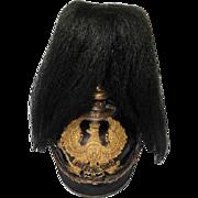 Prussian Pickelhaube Helmet w/Colberg 1807 Bandeau & Black Horse Hair Plume