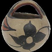 "Pueblo Indian Pottery Vase w/ Handle - 4"" Tall"