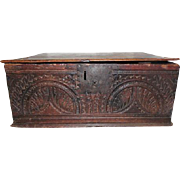 Rare - Carved Oak Writing Box - Dated 1667