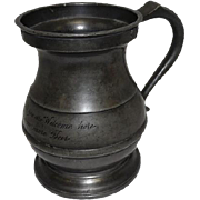 Rare - Early 18th Century (C. 1720) Pewter Tankard Quart Stein w/Handle