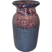 """Speckled Multi-Colored Pottery Vase - Marked on Bottom - 9 1/4"""" Tall"""