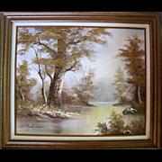 """Stanley Baker Landscape """"Knapheide"""" Oil on Canvas"""