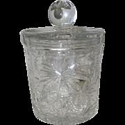 "Star Pattern - Lead Crystal Glass Candy Dish w/Lid - 7 1/2"" Tall"