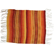 "Wool Saddle Blanket with Fringe - 46"" Long x 31"" Wide"