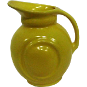 """Yellow Art Pottery Pitcher w/Handle - 6 3/4"""" Tall"""