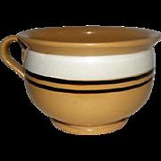 "Yelloware Mixing Bowl w/Handle - 5 1/2"" Tall"