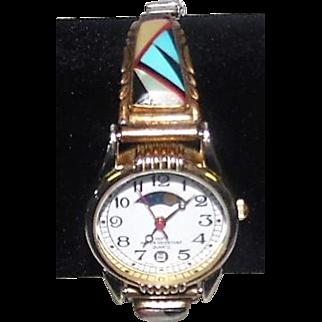 Zuni Indian Watch Band - w/100Ft Water Resistant Quartz