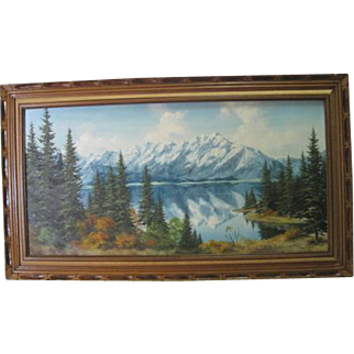 Framed Oil on Masonite Board - Landscape by Sharon J. Achtyes