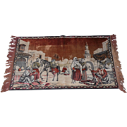 "Lot #14A Middle Eastern Mid-Century Tapestry - 40"" x 23 1/2"""