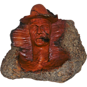 Burough Carving of Cowboy - Signed Aspen Wall