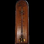 "Colburn's Philadelphia Mustard Antique Thermometer - 12"" Long"