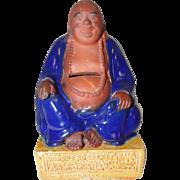"""Buddha Redware Penny Bank - 5 1/2"""" Tall"""